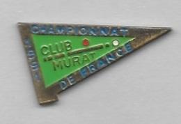 Pin's  Sport  Billard, CLUB  MURAT, CHAMPIONNAT  DE  FRANCE  1991  à  MURAT  ( 15 ) - Billard