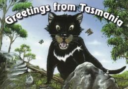 Greetings - Tasmanian Devil, Tasmania - Unused - Other