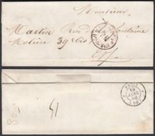 France 1850 -  Paris 19/01/1850 - Levée De Midi, Bureau D (5G) DC1893 - Marcofilie (Brieven)