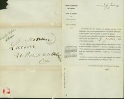 France 1852 - Paris AS1 (15C) 04/07/1852 (5G26351) DC1933 - Poststempel (Briefe)