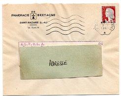 LOIRE ATLANTIQUE  - Dépt N° 44 = LE CROISIC A NANTES 1961 =  FLAMME CONVOYEUR = SECAP Muette '5 Lignes Ondulées' - Postmark Collection (Covers)