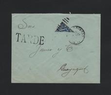 EQUADOR BISECT 1919 PRESIDENT MORENO WATERLOW TARDE LATE - Ecuador