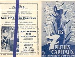 Ciné  Bioscoop Programma Cinema Capitole - Savoy - Select - Eldorado - Gent - Film Les 7 Capiteaux - 1952 - Publicité Cinématographique