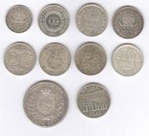 Lot De 10 Monnaies Argent Brésil / Brasil TTB à Sup - Brasile