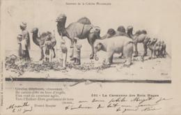 Religion - Crèche Rois Mages - Santons De La Crèche Provençale - Eléphants Chameaux - Oblitération Marseille Paris 1903 - Christianisme