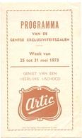 Ciné  Bioscoop Programma Cinema Majestic - Rex - Century - Capitole Savoy Select  Gent - 1973 - Publicité Cinématographique