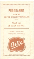 Ciné  Bioscoop Programma Cinema Majestic - Rex - Century - Capitole Savoy Select  Gent - 1973 - Cinema Advertisement