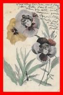 CPA.  Illustrateur  J. SALNIONY.  Portraits De Femmes Dans Des Fleurs...I0484 - Illustrators & Photographers