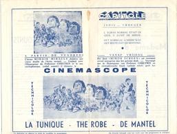 Ciné  Bioscoop Programma Cinema Capitole - Savoy - Select - Eldorado - Gent - Film The Robe - De Mantel - Publicité Cinématographique