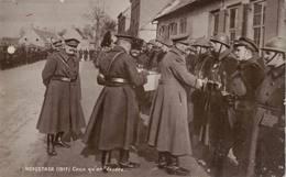 14-18. Soldats Belges. Décorés En 1917 à Hoogstade - Alveringem
