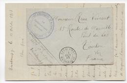 MADAGASCAR - 1917 - LETTRE FM De La PLACE De BESALAMPY RARE ET SUP ! => TOULON - Madagascar (1889-1960)