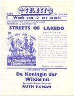 Ciné  Bioscoop Programma Cinema Savoy & Select Gent - Film Streets Of Laredo - Cinema Advertisement