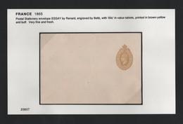 FRANCE 1865 STATIONERY ESSAY RENARD BELTZ - 1863-1870 Napoleon III With Laurels