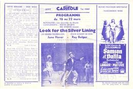 Ciné  Bioscoop Programma Cinema Capitole - Savoy - Select - Gent - Film Look For The Silver Lining - Publicité Cinématographique