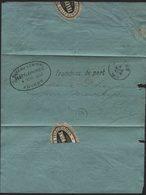 Document Des Téléphones Cachet Ovale BUREAU CENTRAL DES TELEPHONES ANVERS Vers La Ville 1893. Antwerpen - Télégraphes