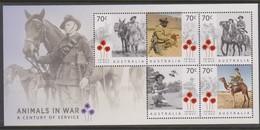 Australia ASC 3351MS 2015 Animals In War, Miniature Sheet,mint Never Hinged - 2010-... Elizabeth II