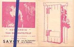Ciné  Bioscoop Programma Cinema Savoy Gent - Film Het Geheim Van De Wenteltrap - The Spiral Staircase - Publicité Cinématographique