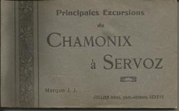 Carnet De 20 Cartes Postales - Principales Excursions De Chamonix à Servoz - Chamonix-Mont-Blanc