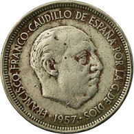 Monnaie, Espagne, Caudillo And Regent, 5 Pesetas, 1958, TB, Copper-nickel - [ 5] 1949-… : Royaume