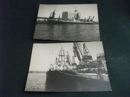 Nave Ship M/N FINEO AI SILOS DI CASABLANCA MAGGIO 1961 2 MINI FOTOGRAFIE - Commercio