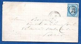 Plis Pour Paris -  13 Avril 1873 - Storia Postale