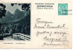 1938 YUGOSLAVIA, SLOVENIA, GOZD MARTULJEK, POSTAL STATIONERY USED - Slovenia