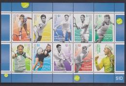 Australia ASC 3363-3372 2016 Tennis Sheetlet,mint Never Hinged - 2010-... Elizabeth II