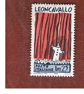 ITALIA REPUBBLICA - UN.  834 -   1958  R. LEONCAVALLO      -  NUOVI ** (MINT) - 6. 1946-.. Repubblica