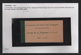 FRANCE 1907 BOOKLET - France