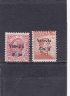 Italie Vénétie Julienne  Neuf  1919  N° 22/23  Timbres D'Italie Surchargés - 8. WW I Occupation