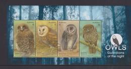 Australia ASC 3412MS 2016 Owls, Miniature Sheet,mint Never Hinged, - 2010-... Elizabeth II