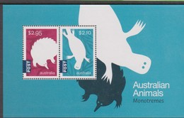 Australia ASC 3442MS 2016 Monotremes, Miniature Sheet,mint Never Hinged - 2010-... Elizabeth II