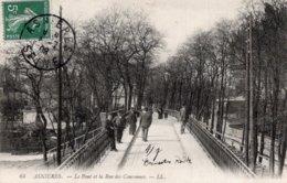 CPA   92   ASNIERES---LE PONT ET LA RUE DES COURONNES---1908 - Asnieres Sur Seine