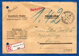 Enveloppe Recommandée De Munchen --  Pour Giessen  -  2/3/1938 - Germany