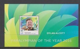 Australia ASC 3448MS 2016 Paralympian Of The Year Dylan Alcott, Miniature Sheet,mint Never Hinged - 2010-... Elizabeth II