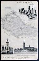 Polska Powiat Czestochowski: Zamek W Olsztynie - Kosciól Sw. Barbary Czestochowie - Kosciól I Klastor Ksiezy ..... 1911 - Polen