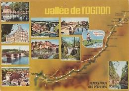 LA VALLEE DE L'OGNON . RENDEZ-VOUS DES PECHEURS . TROUS DE PUNAISE SUR LE HAUT  . ECRITE AU VERSO - France