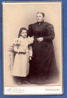 Grande Photo  -  Femme Et Enfant -  Photographe F.Peters  -  St Nicolas - Alte (vor 1900)