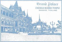 1689q: Postkartenfolder Grand Palace Emerald Buddha Temple Bangkok, 12 Cards - Thailand