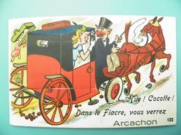 ST/144- 33 -Arcachon - Fouette Cochet, Fiacre, Cheval-GABY 122- - Arcachon
