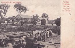 CONGO FRANCAIS N° 19  Indigènes En Service  ( Plan Animé ) - Congo Français - Autres