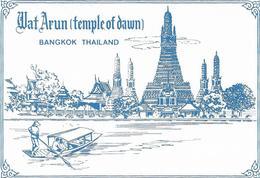 1689r: Postkartenfolder Wat Arun (temple Of Drawn) Bangkok, 12 Cards - Thaïland
