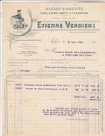 Facture Illustrée 19/3/1930 Etienne VERDIER Huiles Savons Thés Cafés SALON Bouches Du Rhône - Escane Torreilles - Francia
