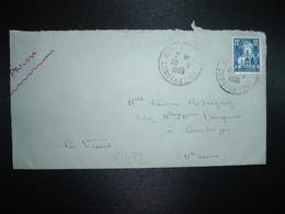 LETTRE TP 15F OBL.20-6 1955 AIN-M'LILA CONSTANTINE - Algérie (1924-1962)