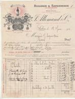 Facture Illustrée 17/6/1911 ALLEMAND Huilerie Savonnerie La Gillette SALON Bouches Du Rhône - Seguin Tesson 17 - France