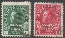 Canada. 1915 War Tax. 1c, 2c Used. SG 228-229 - War Tax