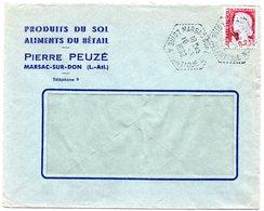 LOIRE ATLANTIQUE - Dépt N° 44 = MARSAC Sur DON 1962 = CACHET MANUEL HEXAGONAL Pointillé F7 AGENCE POSTALE - Manual Postmarks