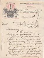 Facture Lettre Illustrée 26/11/1912 ALLEMAND Huilerie Savonnerie La Gillette SALON Bouches Du Rhône - Seguin Tesson 17 - Francia