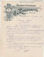 Facture Lettre Illustrée 22/7/1911 MARGUERITTE Huilerie Savonnerie SALON Bouches Du Rhône - Seguin Tesson 17 - France