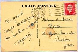 France Dulac N° 691 Y. Et T. Empreinte Flier Dijon Gare Côte D'Or Du 23/08/1945 - Marcophilie (Lettres)